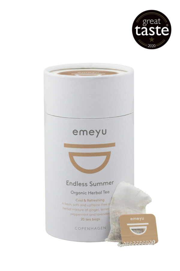 Endless Summer organic herbal tea ginger and mint Great Taste winner