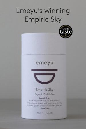Billede af vores te, Empiric Sky, vinder af Great Taste 2019.