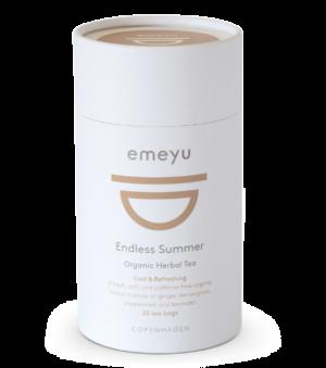 Et billede af et rør med vores økologiske te, Endless Summer.