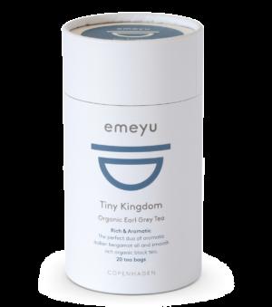 Dette er et billede af et rør med 20 poser økologisk te, i varianten Tiny Kingdom.