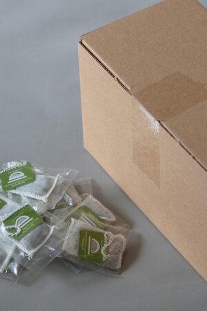 Et billede af vores te, Eight Butterflies, i kasse med 100 stk.