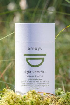 Eight Butterflies økologisk grøn te i te rør