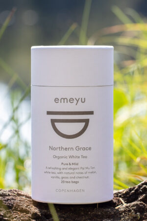 Northern Grace økologisk hvid te i bomulds teposer i te rør