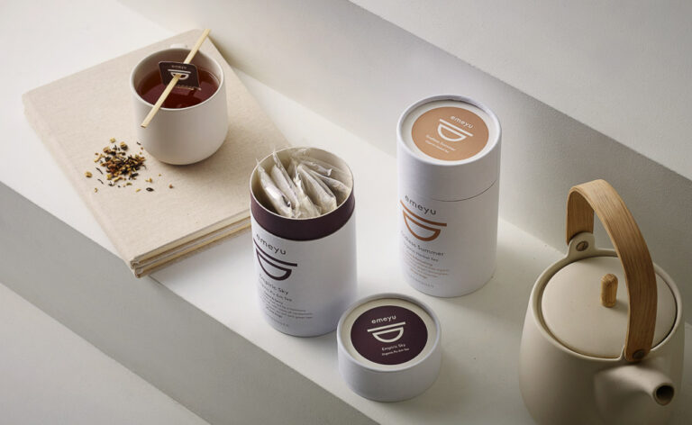 Sustainable Tea Tubes with cotten teabags organic tea