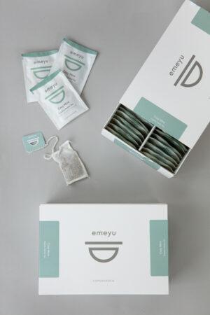 Cozy Mint økologisk urte te med lakrids og pebermynte, 50 håndsyet bomulds teposer i en bæredygtig æske