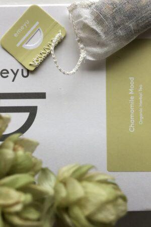 Organic herbal tea mint liquorice caffein-free økologisk urte te mynte lakrids koffein fri i bæredygtig emballage