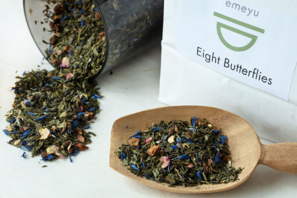 Organic Green tea loose weight in a resealable bag sustainable tea